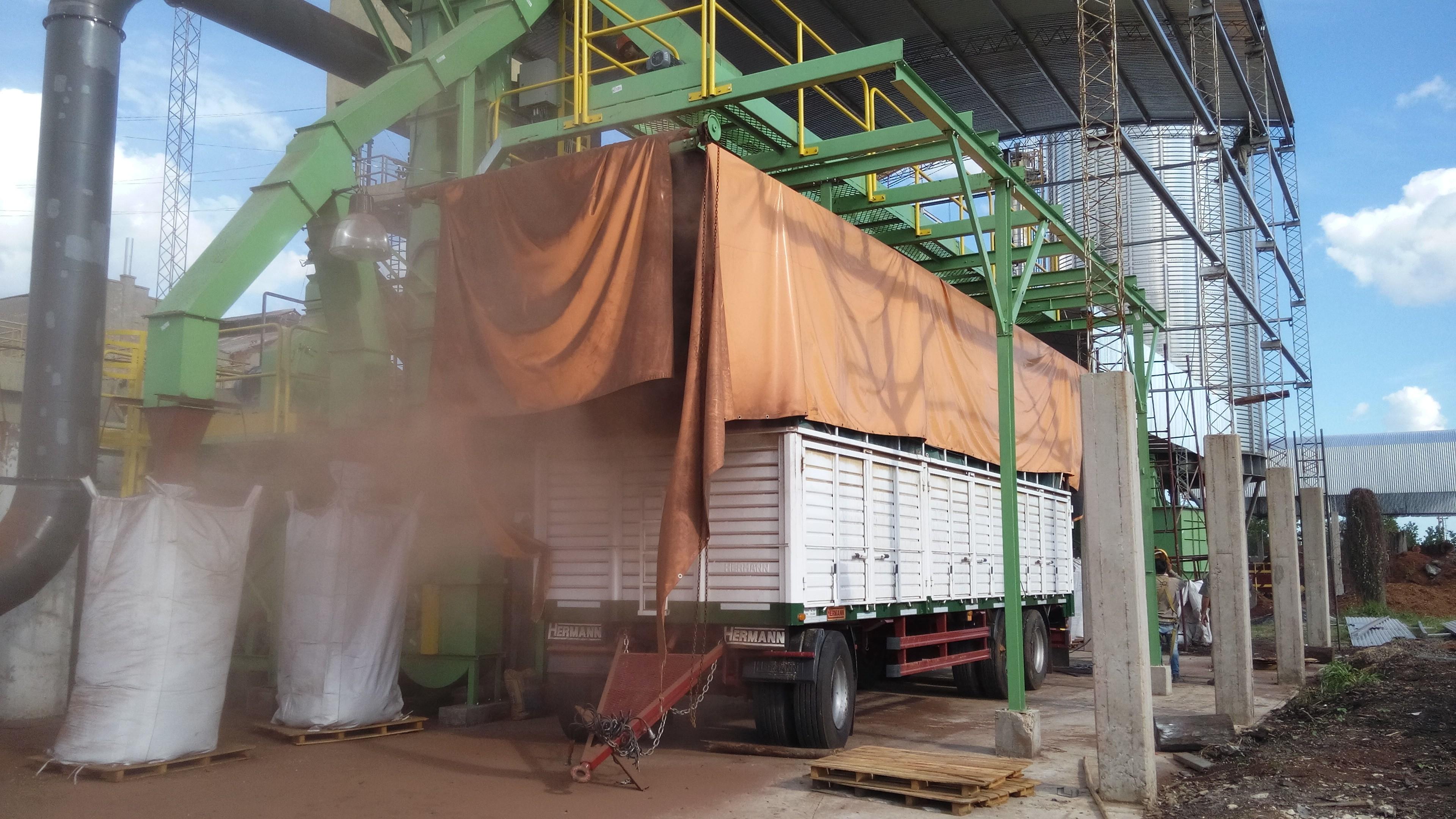 biomass reception system