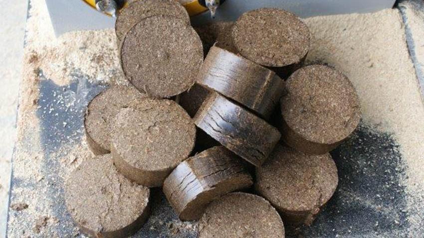 Briquetas generados por briqueteadora hidráulico