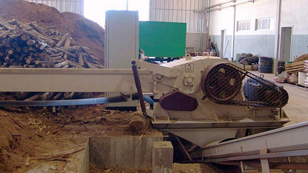 Briquette factory with wood chipper PTL 200 x 500