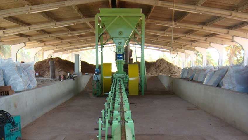 Briquetter in briquette operation of sugarcane bagasse
