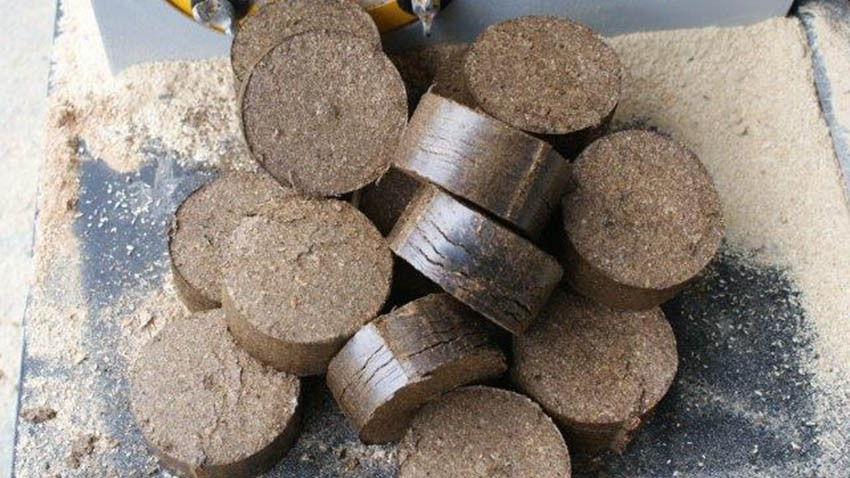 Briquettes generated by hydraulic briquetter