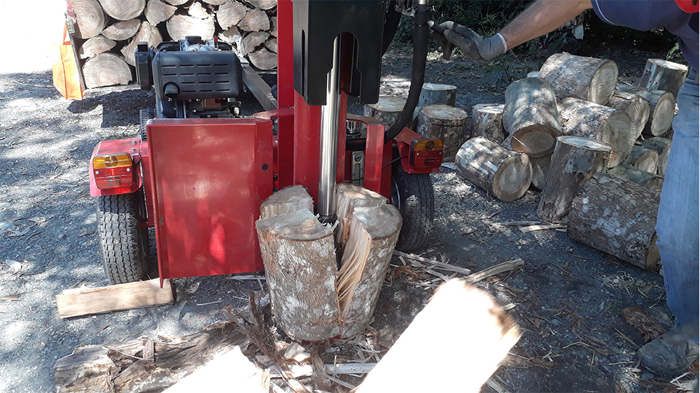 Can split high diameter logs
