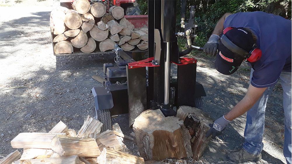 Capacidad para partir troncos de gran diámetro