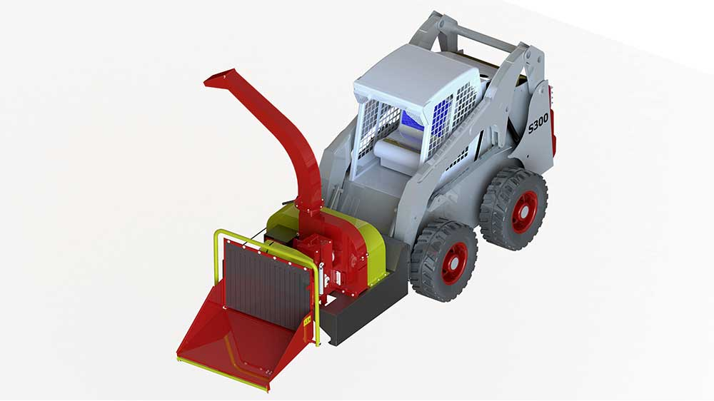 Compact and easy to carry chipper