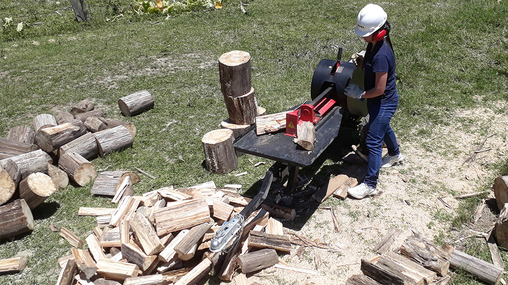 Compact size and easy transport log splitter