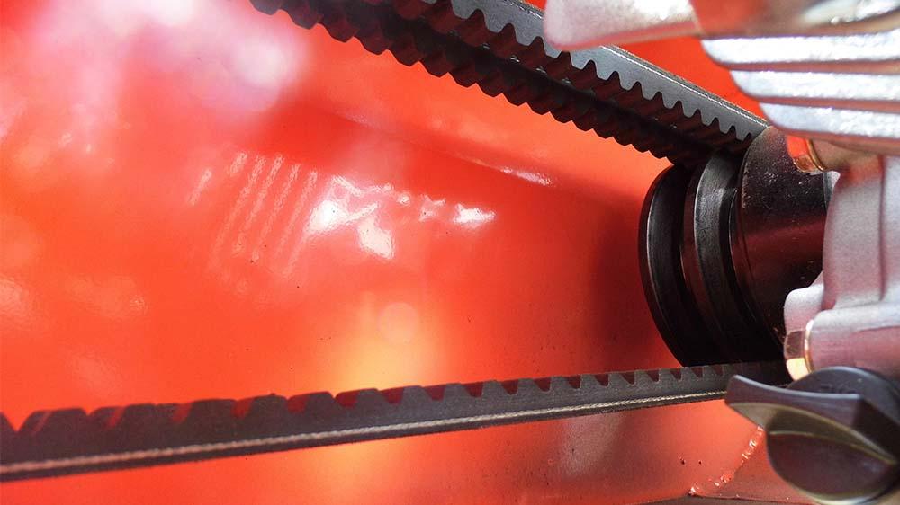 Correia de acionamento do rotor