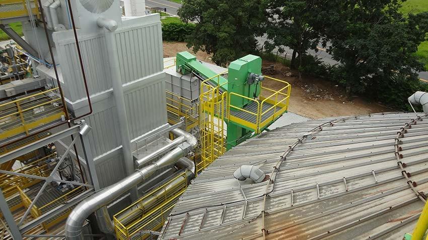 Descargador caldera alimentada silo pulmón