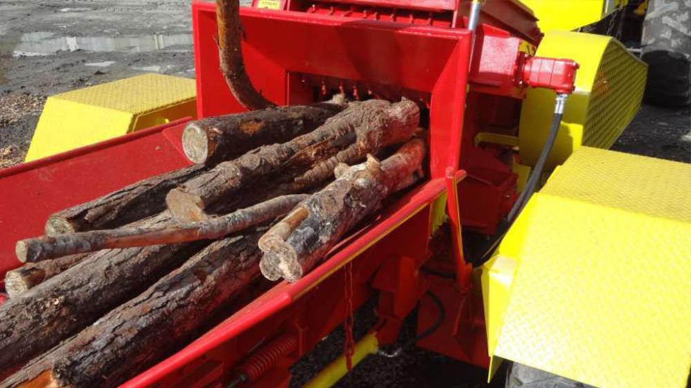 El picador acepta gran cantidad de madera en los alimentos
