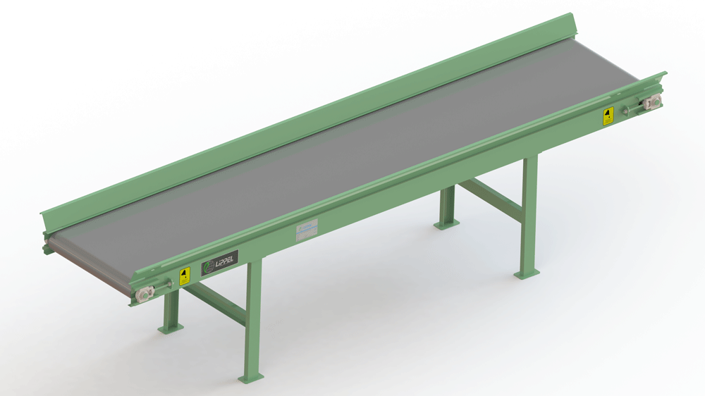Estera transportadora de residuos para clasificación