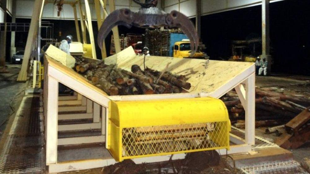 Feeding conveyor belt