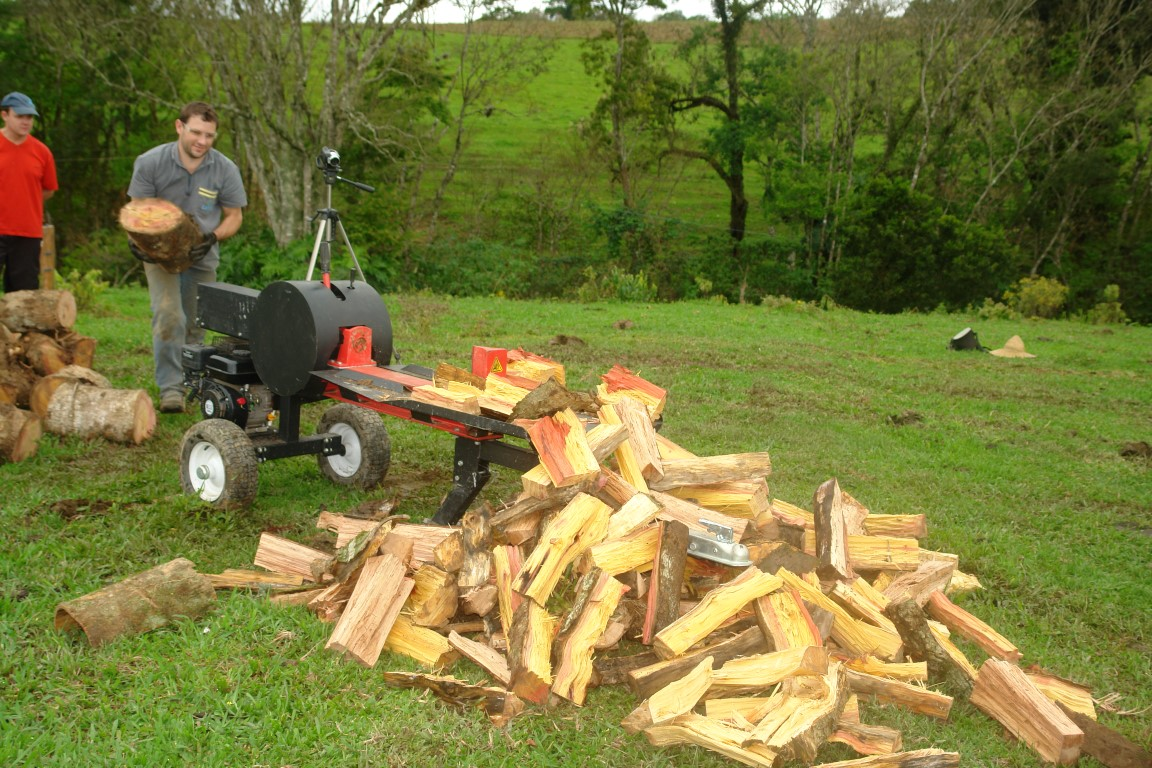 Firewood chopped by cleaver