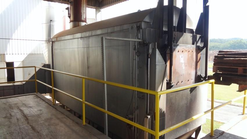 Fornalha com capacidade de 4500 Kw