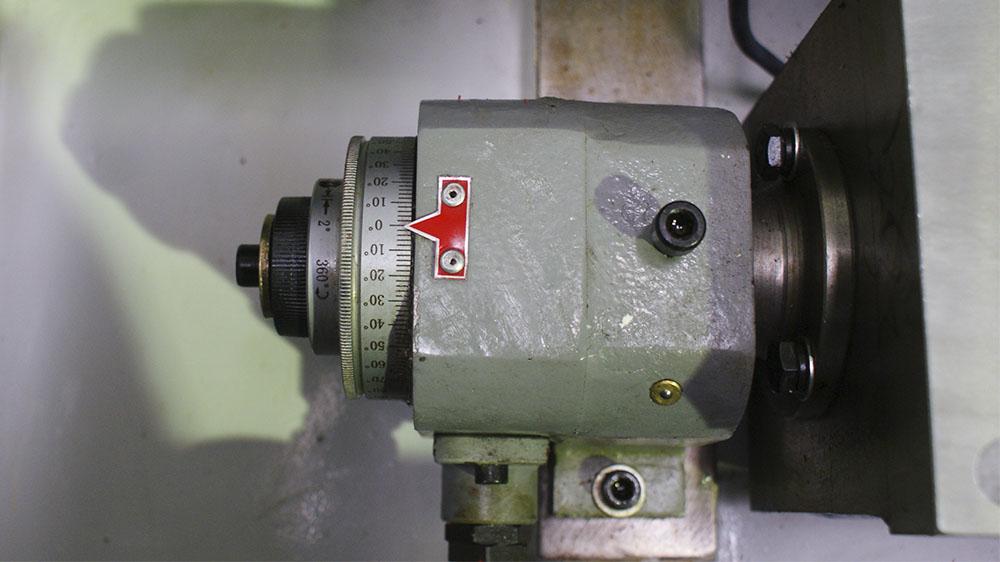 Grindding angle adjustment