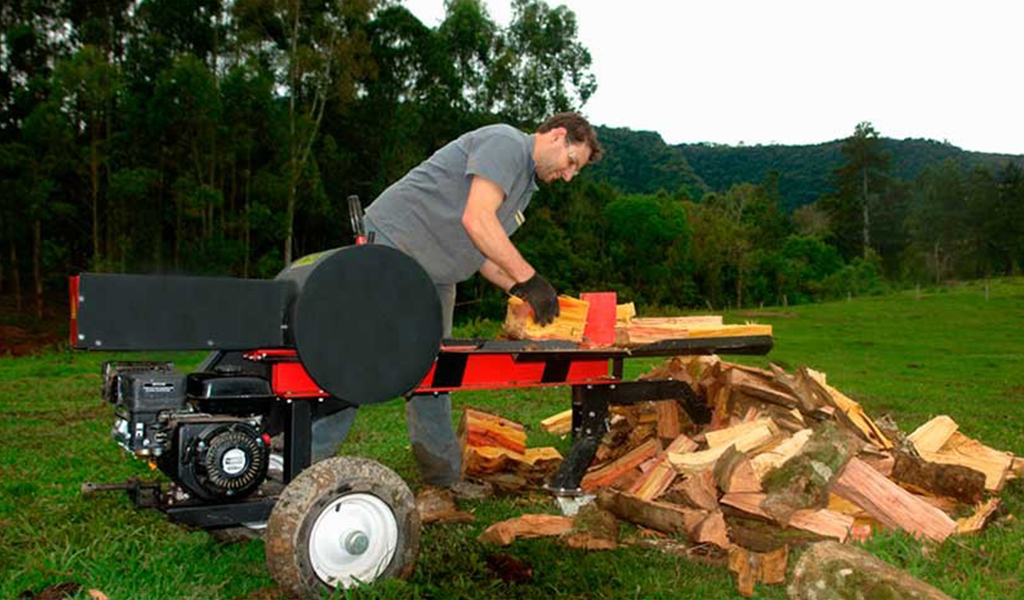 Hewer of firewood and logs