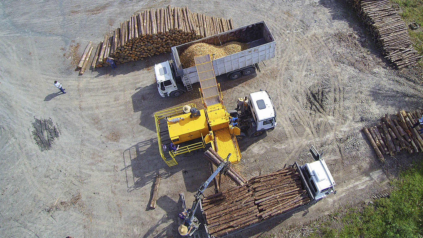 High performance Forestry Chipper
