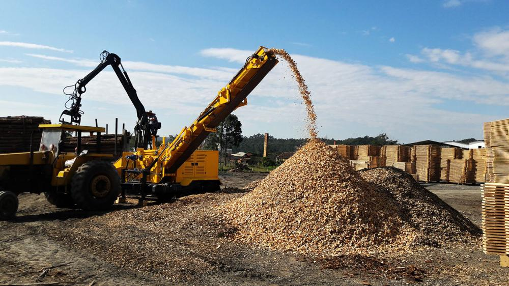 High wood chips production capacity