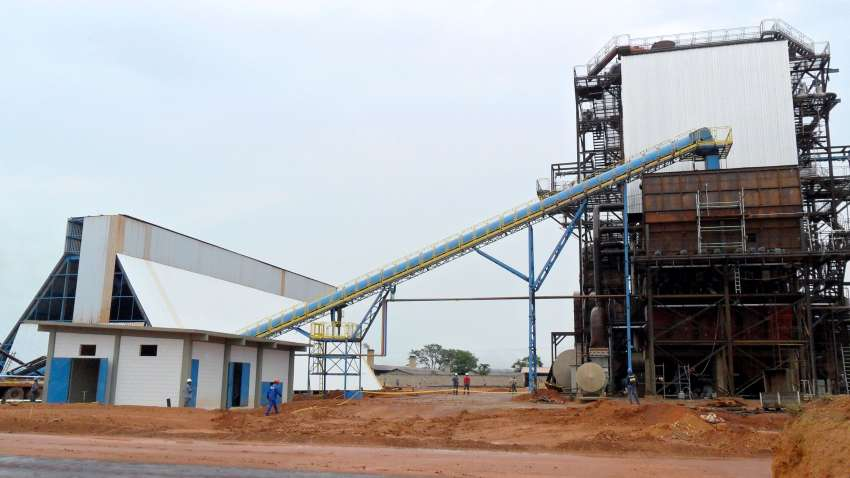 horizontal silo; conveyor and boiler power plant
