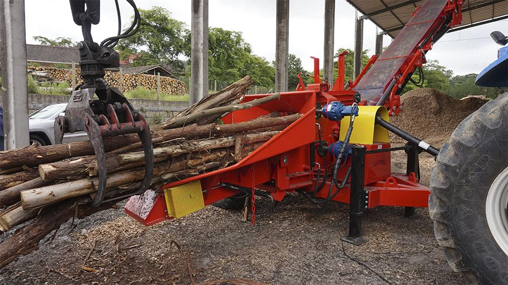 Hydraulic feeding rollers