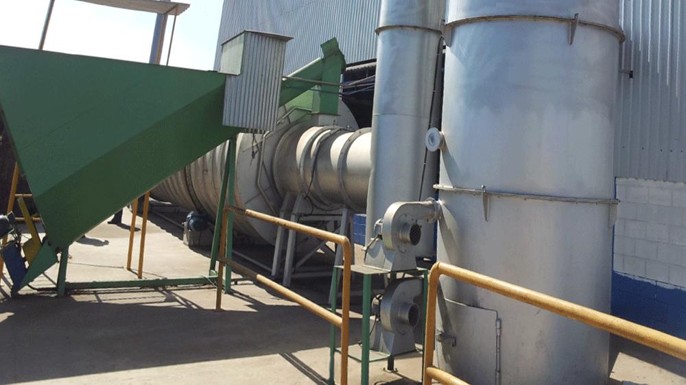 Instalación de quemador ciclónico