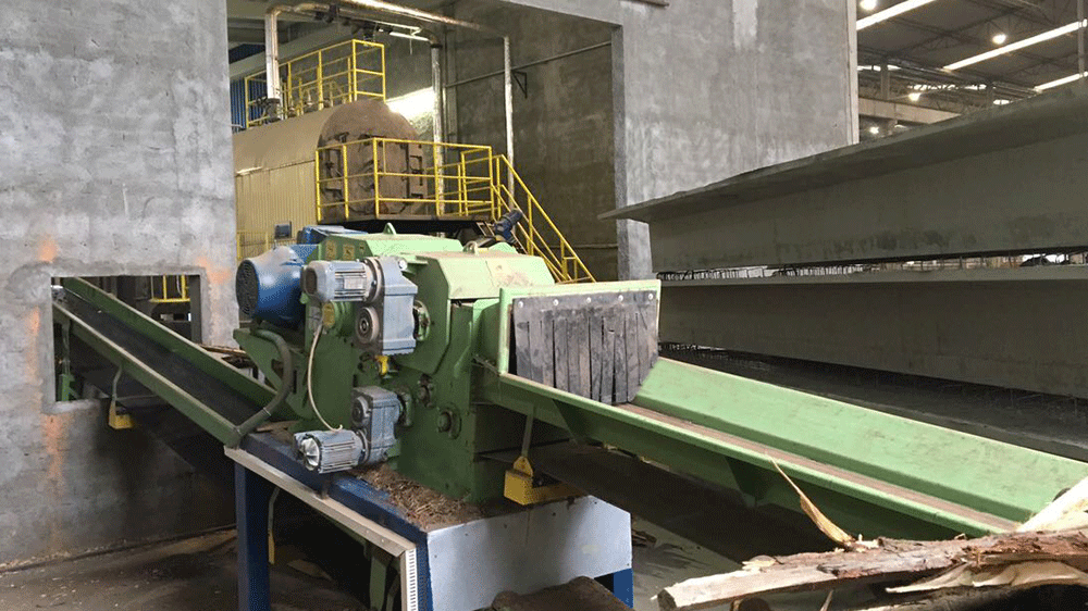 Installation of automation chipper