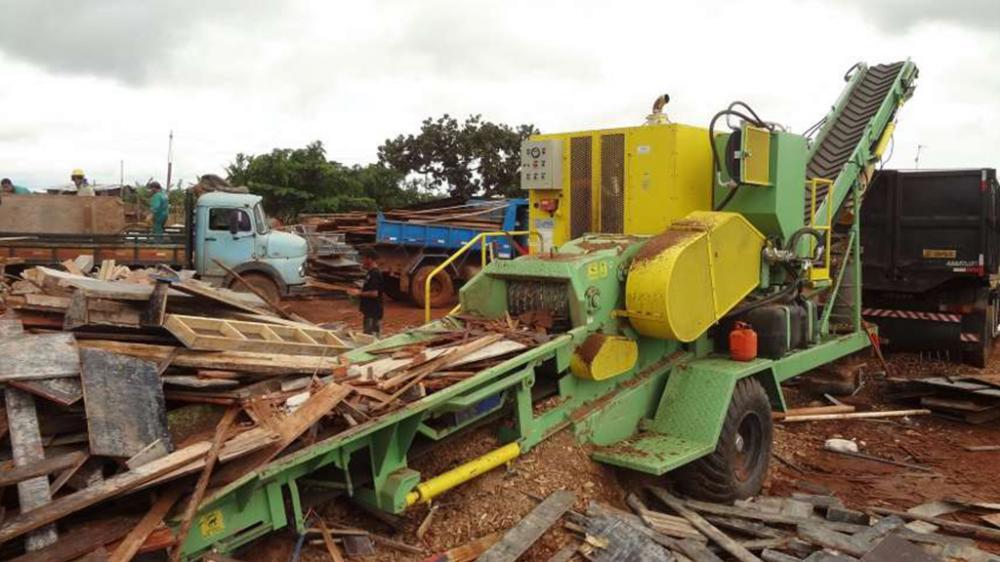 La astilladora de madera para su reciclaje tiene una gran capacidad de producción