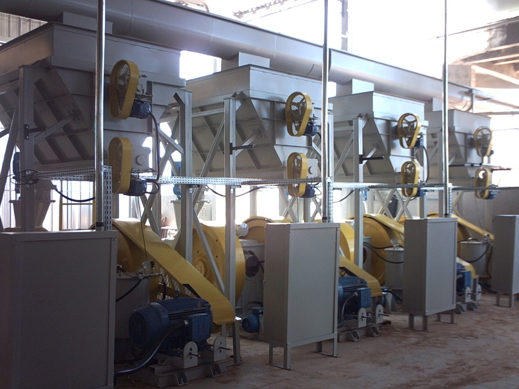 Multiple briquette machines mounting