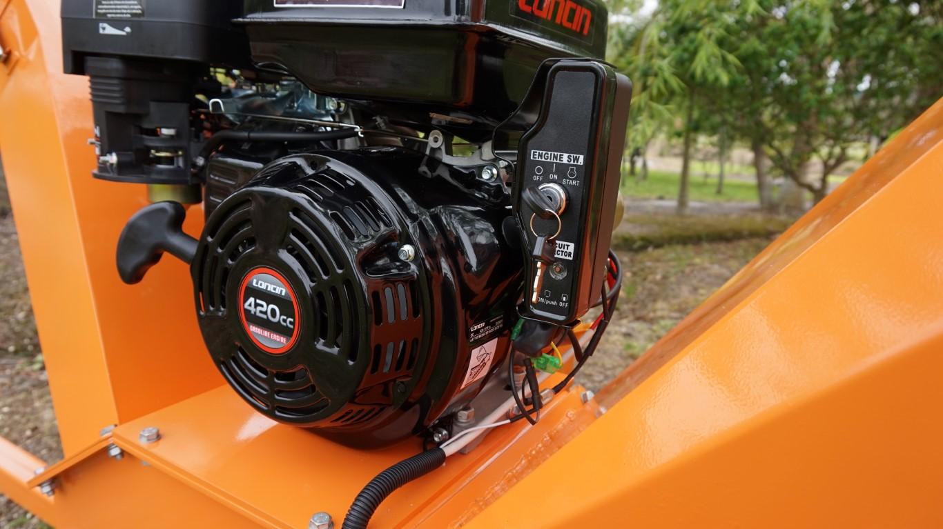 Opção de motor a gasolina de 15 HP
