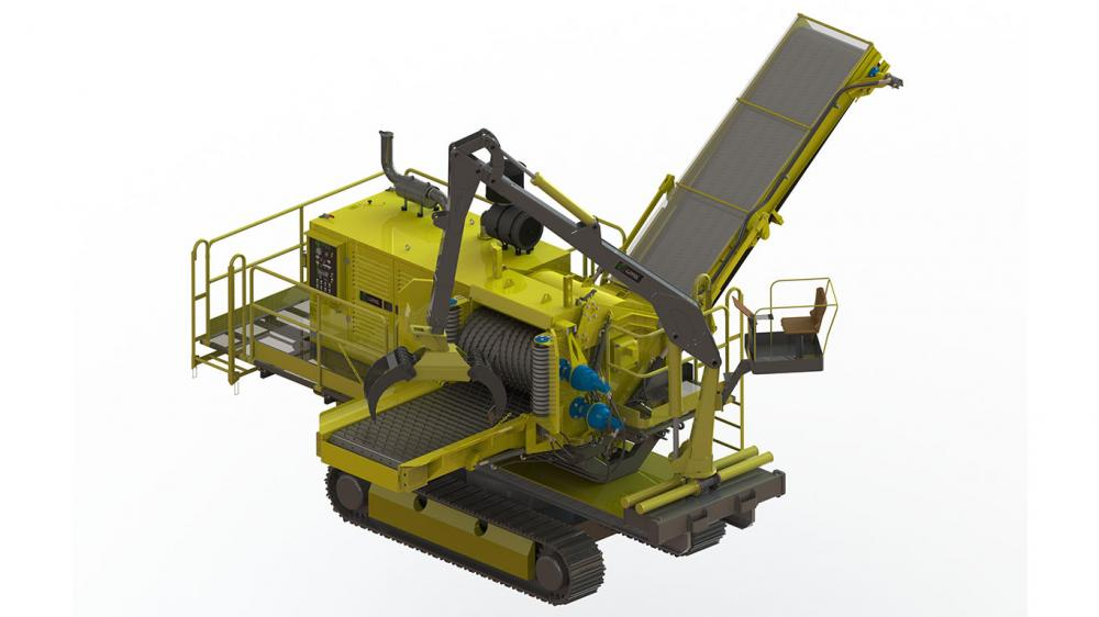 Optional crane system and traction roll
