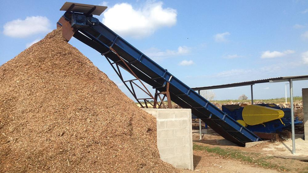 outfeed conveyor with carrying capacity of up to 70m³ / h