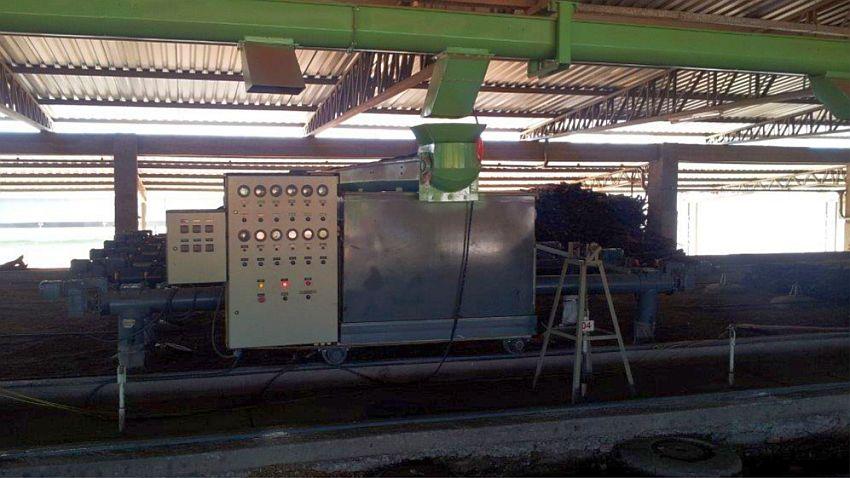panel de control central; controla todo el sistema de fuente de alimentación