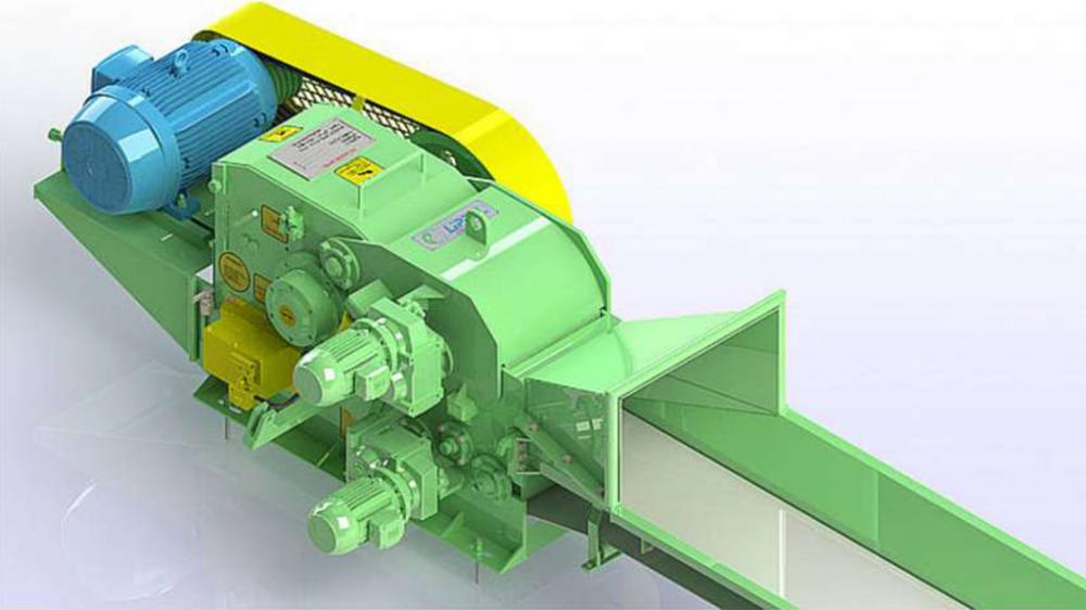 Picador de madera fija con vuelco del tractor PTL 170/250 x 400