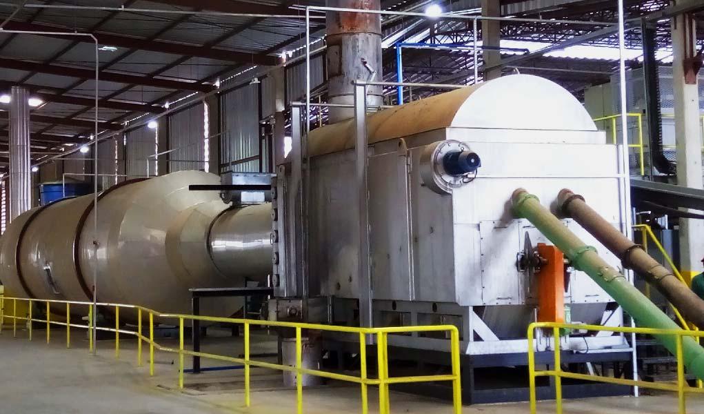 QPL 40 em uma usina de briquete