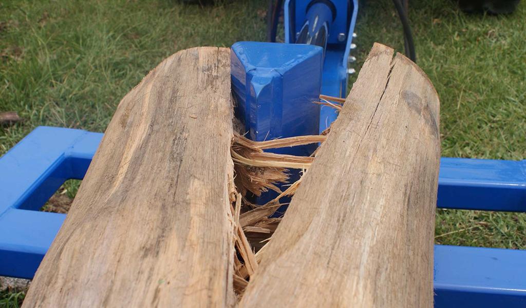 RTM 300 chopping wood in half