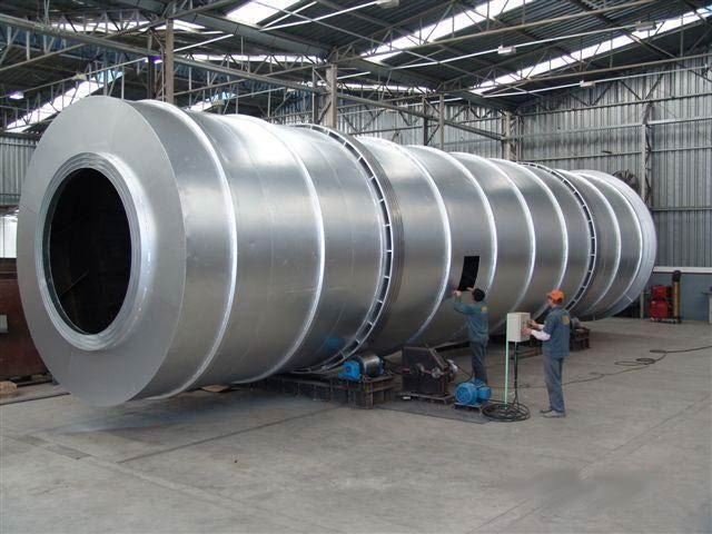 secador rotatorio en el proceso de fabricación