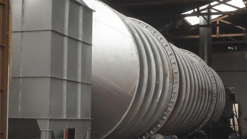 Secadora 4 T / h utilizado para el arroz cáscara de incineración