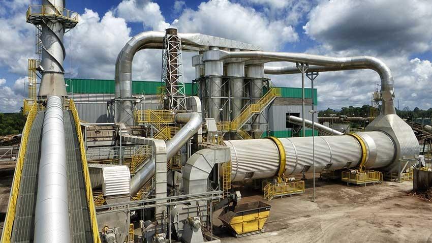 secadores rotatorios con una capacidad de hasta 70 Ton / h.