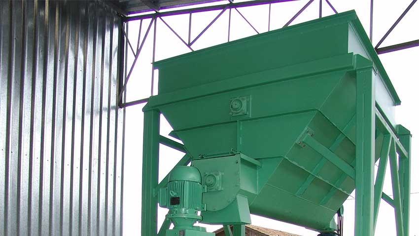 Silo aéreo da Briquetadeira de biomassa