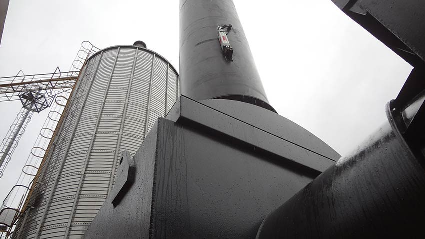 Silo and furnace pellets factory