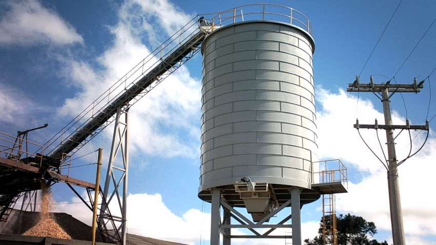 Silo Lippel biomass for gravity discharge