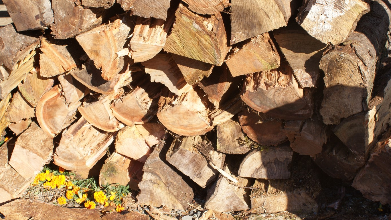 Splitted firewood