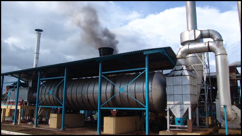 Hive rotary drum dryer with capacity of up to 70 T/h