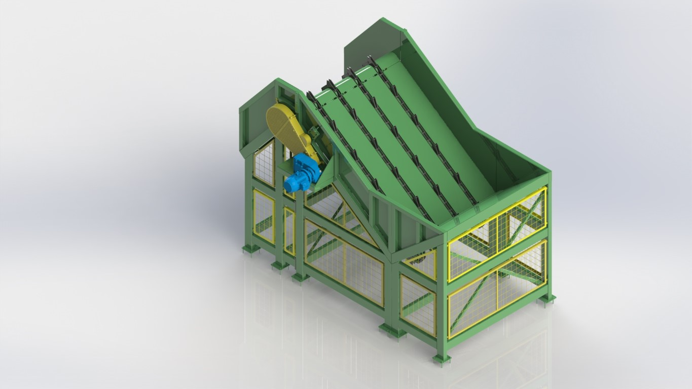 System for continuous feeding of logs for the picador