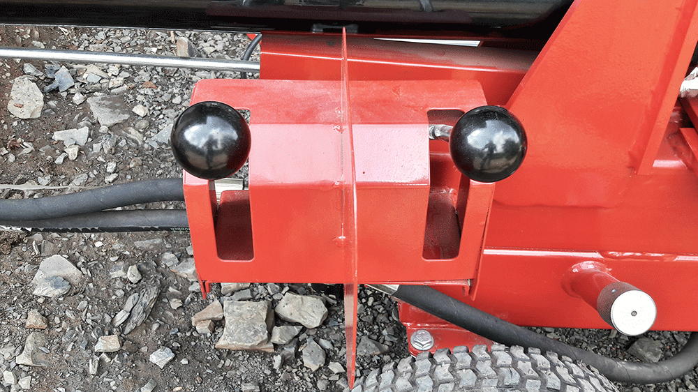 Two control levers for operator
