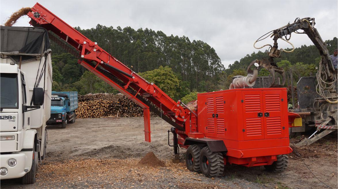 Versatilidade e eficiência no quesito de produção de cavacos.