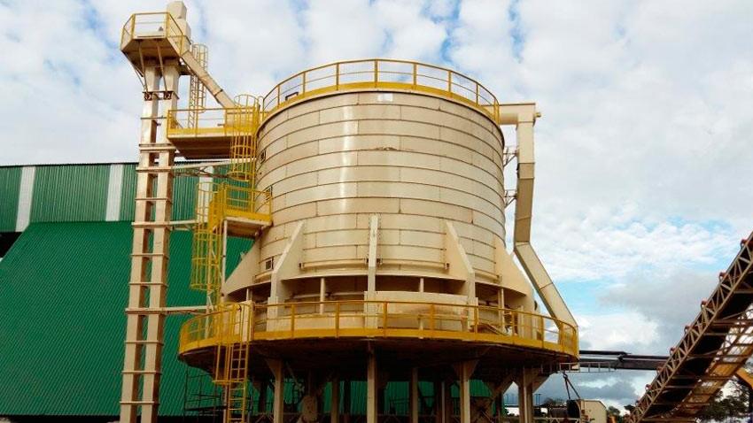 vertical 500 m³ silo