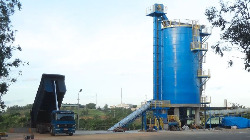 Vertical silos for wood chips and Biomass Storage