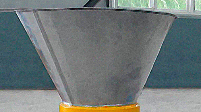 Waste feed funnel