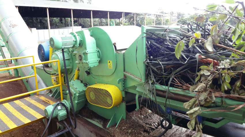 wood chipper and special branches for compost production