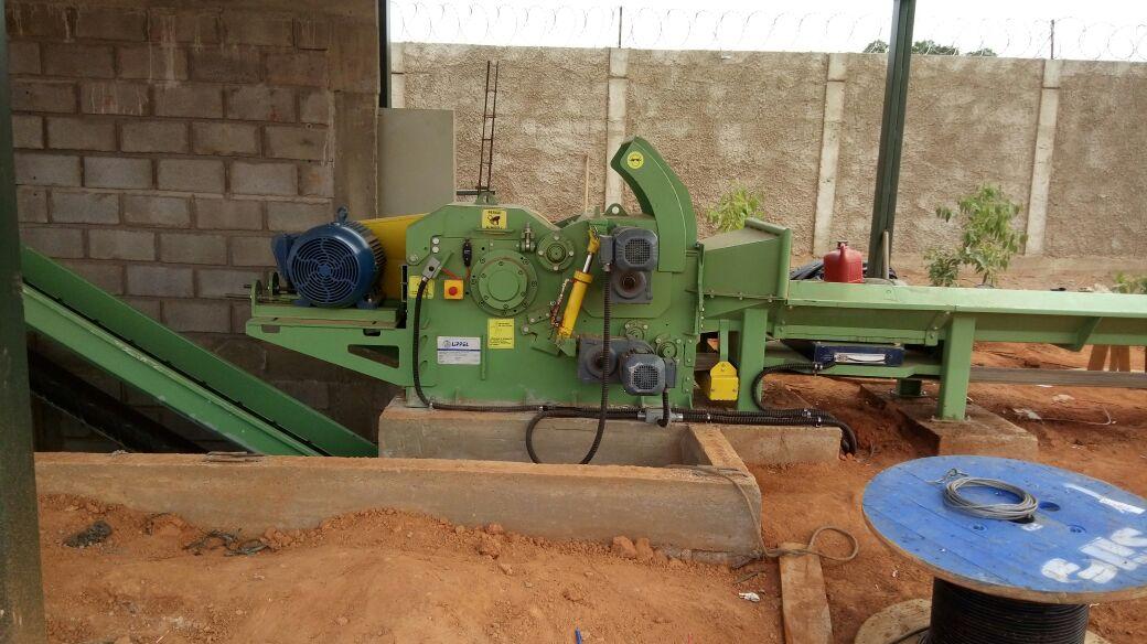 Wood chipper installed in fertilizer factory in the center-west region of Brazil