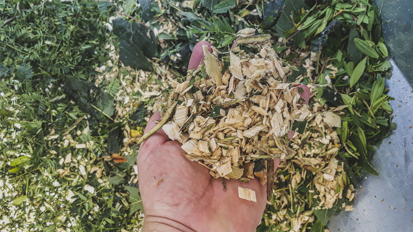 Wood chips for fertilization or composting
